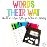 Words their Way Resources for the Primary Classroom