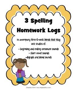 Words their Way Spelling Homework Bundle #1