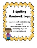 Words their Way Spelling Homework Bundle #3