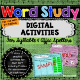 Words Their Way - Syllable & Affix Spellers DIGITAL Activities