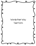 Words their Way Test Form