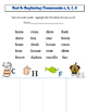 Words their Way (WTW) alphabetic spellers Sorts 1-5 with a