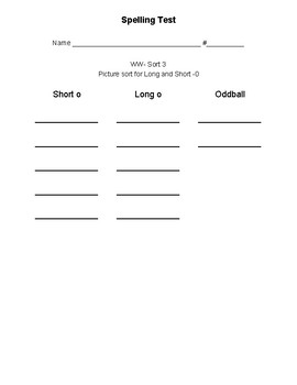 Words their Way- Within Words Spelling Pattern Test Sheets