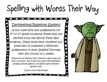 Words their way Derivational Relations Spellers