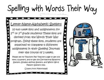 Words their way Letter Number Spellers