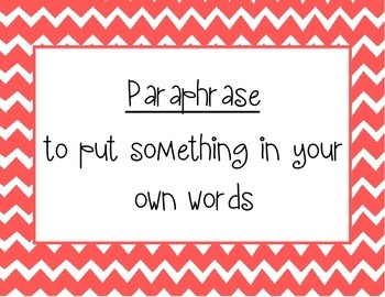 Words to Know Bulletin Board