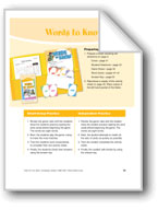 Words to Know (Sight words)