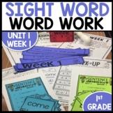 Word Work   UNIT 1 Week 1   ELA Worksheets   Center Games and Activities