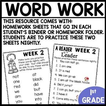 Word Work (Unit 1 WEEK 2)