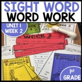 Word Work | UNIT 1 Week 2 | ELA Worksheets | Center Games