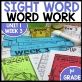 Word Work | UNIT 1 Week 3 | ELA Worksheets | Center Games