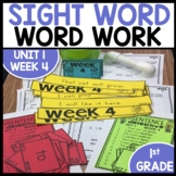 Word Work | UNIT 1 Week 4 | ELA Worksheets | Center Games