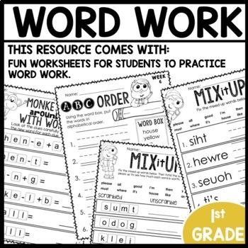 Word Work (Unit 2 Week 2)