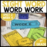 Word Work | UNIT 2 Week 6 | ELA Worksheets | Center Games