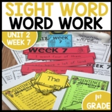 Word Work | UNIT 2 Week 7 | ELA Worksheets | Center Games