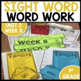 Word Work | UNIT 2 Week 8 | ELA Worksheets | Center Games