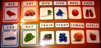 Words-to-Pictures Matching Flash Cards. Reading Writing. Autism ABA Literacy SEN