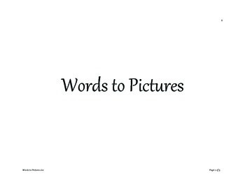 Words to Pictures game