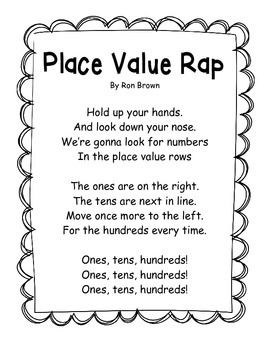 Words to Ron Browns- Place Value Rap