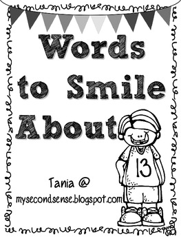 Words to Smile About (Black and White)