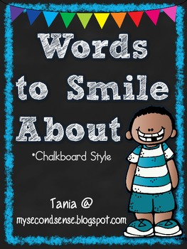 Words to Smile About (Chalkboard)