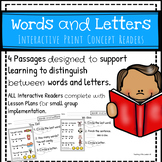 Words vs. Letters: Interactive Print Concept Readers