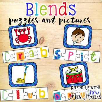 Words with Blends - Puzzles and Picture Match