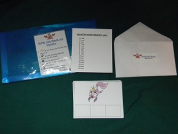 Words with Blends and Digraphs-Teacher made literacy center-file folder game