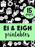 Words with EI & EIGH Phonics Printables