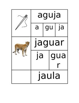 Words with J in Spanish