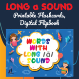 Long a Sound, Printable Flashcards, Digital Flipbook