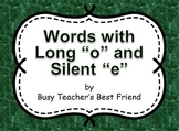 Words with Long o and Silent e PowerPoint Presentation and Flash Cards