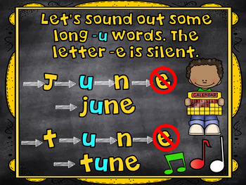 Words with Long u and Silent e PowerPoint