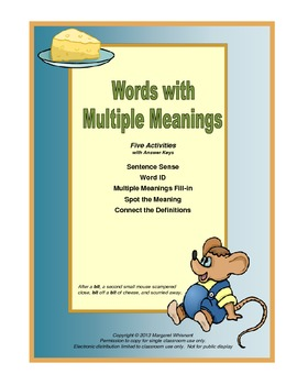 Words with Multiple Meanings CCSS L 3-5.4
