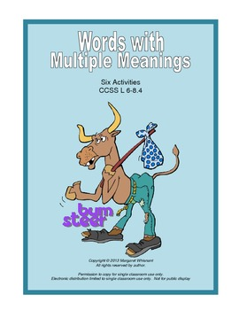 Words with Multiple Meanings:  Six Activities CCSS L 6-8.4