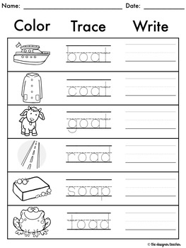 no prep oa ow oe worksheets long o phonics word work by the designer teacher. Black Bedroom Furniture Sets. Home Design Ideas