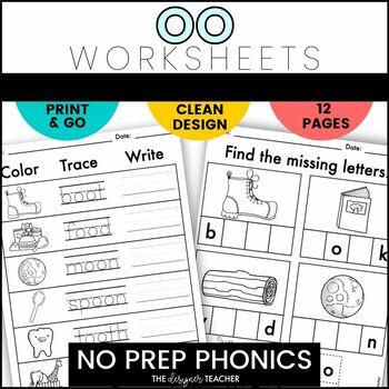 NO PREP Print & Go OO Word Work
