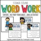 Words with Schwa Word Work Activities
