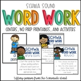 Words with Schwa Word Work Activities