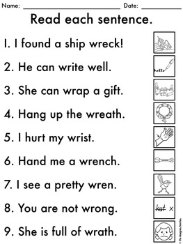 no prep silent letter wr worksheets wr word work by the designer teacher. Black Bedroom Furniture Sets. Home Design Ideas