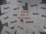 'Words with a Short A' for use in Daily Five and Literacy Centers