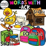 Words with -ack {Word Family Clip Art}