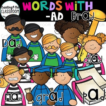 Words with -ad  {Word Family Clip Art}