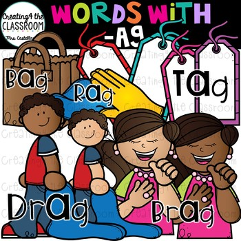 Words with -ag  {Word Family Clip Art}