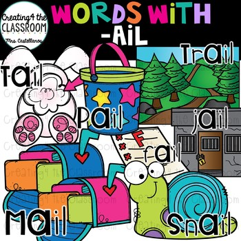 Words with -ail  {Word Family Clip Art}