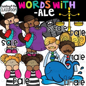 Words with -ale  {Word Family Clip Art}