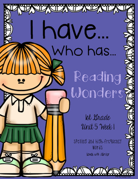 """Words with /ar/ Reading Wonders """"I have, Who has?"""""""