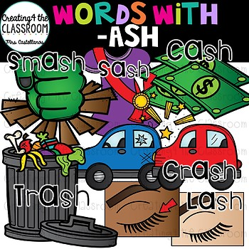Words with -ash  {Word Family Clip Art}