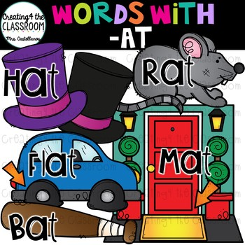 Words with -at {Word Family Clip Art}