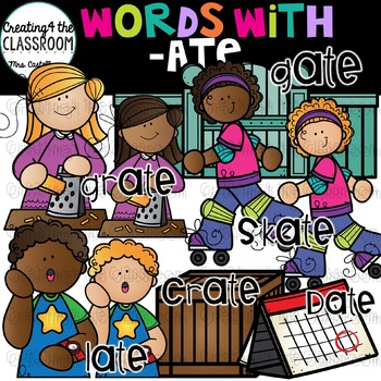 Words with -ate  {Word Family Clip Art}